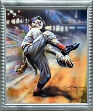 Dog Playing Old Time Baseball Motivational Sports Fine Wall Framed Picture 20x24