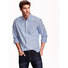 NWT OLD NAVY Men's Slim-Fit 100% Medium Weight Soft Cotton Blue Oxford Shirt 3XL