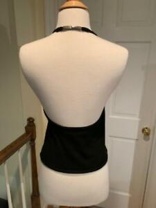 Ralph Lauren Black Label Black Cashmere Halter Top Large