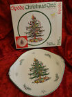 Spode Christmas Tree Round Handled Cake Plate - New in Box