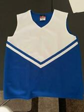 Alleson Women's Cheerleading V Shell Top with Braid size S blue and white