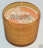 NEW BATH & BODY WORKS MAHOGANY TEAKWOOD SCENTED CANDLE 3 WICK 14 OZ ORANGE LARGE