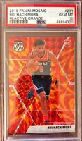 2019-20 Panini Mosaic Reactive Orange Prizm #231 Rui Hachimura RC Rookie PSA 10