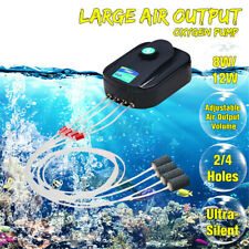 Aquarium Fish Tank Ultra Silent Air Pump Air Compressor Double Single