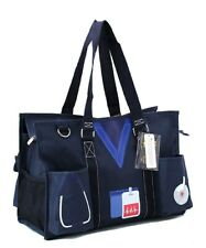 Zip Top Utility Tote Organizer w/pockets purse bag craft FREE SHIP Nurse Navy