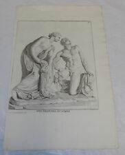 1804 Antique Print///NUDES///q