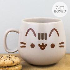 New Pusheen Kawaii Cat Character Kitty Face Grey Mug Gift Boxed Ceramic Cup