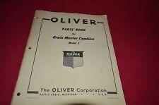 Oliver Tractor Model 2 Combine Dealer's Parts Book Manual BVPA