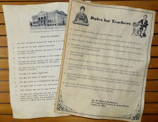 1872 & 1915 Rules for Teachers Posters Set of 2. Feel free to customize.