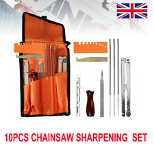 10x Chainsaw Sharpening File Filing Kit Chain Sharpen Gauge Saw Files Tool Set