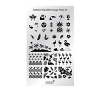 Konad Square Image Plate - 35 (Tropical) best for vacation nail art