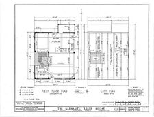 Timber frame Colonial cottage, architectural plans, detailed frame drawings
