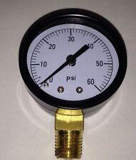 Propane 0-60 Regulator Pressure Gauge, Pig Cooker, Forge, Smoker 1/4 Pipe treads