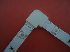 4 x RGB L Verbinder Steck- Eck- Verbinder Winkel für SMD 5050 LED Strip Streifen