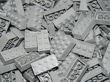 LEGO 50 x LIGHT GREY BRICKS 2 x 4  No 3001 STAR WARS-HARRY POTTER-CITY