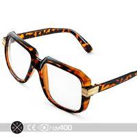 Tortoise RUN DMC Old School Hip Hop Square Vintage Squared Glasses S165