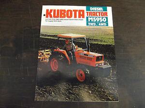 KUBOTA M5950 2WD / 4WD DIESEL TRACTOR BROCHURE 1989 M5950DT