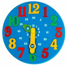 Little Genius Time Learning Clock, Blue (Free shipping worldwide)