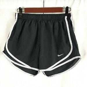 Nike Dri-Fit Tempo Running Shorts Brief Lined Womens Size Medium Black White