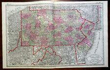 Pennsylvania & New Jersey Newark Philadelphia Camden Scranton 1885 Tunison map
