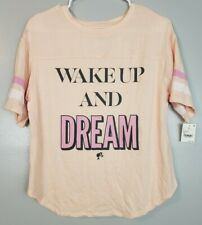 Barbie Women's Top Size XS Coral Orange Oversized Wake Up and Dream Shirt
