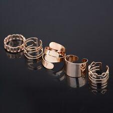5 Stück Frauen Damen Geometric Art Gold Ringe Above Midi Finger Ringe Geschenke