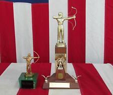 Clásicos 1950s Tiro Con Arco Competencia Premio Trofeo Par SUR montaña LAZO