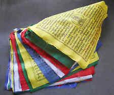 Tibetische Gebetsfahnen 5,75 m lang, 25 Fahnen à 23 x 23 cm original aus Nepal