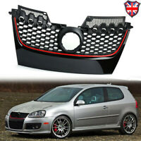 Front Bumper Mesh Red Strip Center Grille For 2003-2009 VW Jetta Golf  MK5