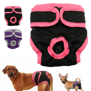 Soft Cotton Pet Puppy Physiological Pants Washable Reuse Pets Underwear S-XL