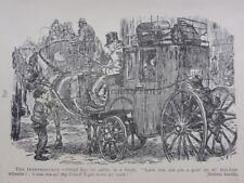 Transport, cab & Cabby la rue irrépressible boy antique punch Cartoon