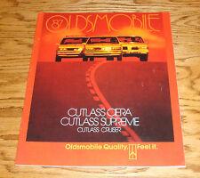 Original 1987 Oldsmobile Cutlass Ciera Supreme Cruiser Deluxe Sales Brochure 87