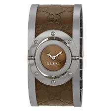 Gucci Twirl Brown Dial Ladies Watch YA112433