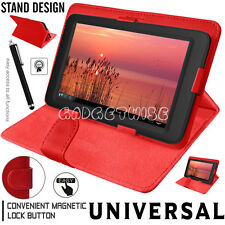 """New Universal Leather Cover Case For Amazon Kindle Fire 7"""" & Alcatel Pixi 4 (7"""")"""