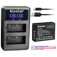 Kastar Battery Dual LCD Charger for Original Fujifilm NP-W126 W126s OEM BC-W126