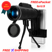 40x60 Bak4 Monocular Telescope Hd Night Vision Mini Outdoor Hunting Camping