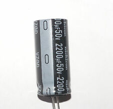 2200uF 50V Radial Nichicon Electrolytic capacitor. New. USA SELLER