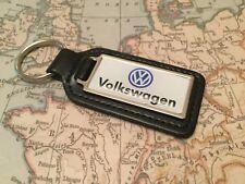 VW qualità nero vera pelle portachiavi rettangolare Golf Polo SCARABEO TIGUAN