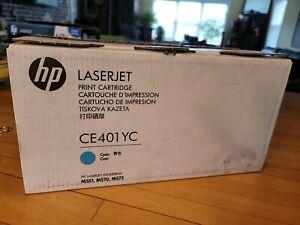 HP CE401YC CE401A (507A) Cyan Toner Cartridge Genuine open box