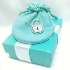 Tiffany Co Medium Arc Lock Charm Pendant Bracelet Necklace Sterling Silver 925