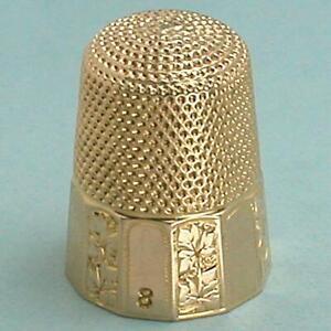 Antique 14 Kt Gold Thimble by Carter, Gough & Co. * Circa 1890s