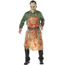 Adult Bloody Butcher Costume Horror Killer Ghoul Costume Halloween Dress Outfit