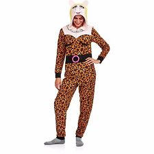 Womens small Miss Piggy Costume Pajamas Hoodie one piece new 4/6 muppets union