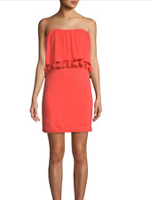 TRINA TURK Bumble Tassel Strapless Mini Dress, NWT, Small, orig$228