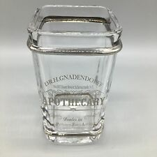 BELLA LUX Dr H Gnadendorff Apothecary Glass Toothbrush Holder Silver Trim NEW