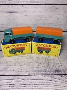 Matchbox 1 & 2 Mercedes Truck and Trailer - Mint in Box