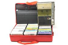 Vintage SR Standard Battery Cassette Player+40 Boxed Jazz Rock Classical Western