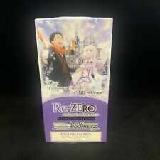 Weiss Schwarz Re:ZERO Memory Snow Sealed Booster Box Re Zero English IN HAND RTS
