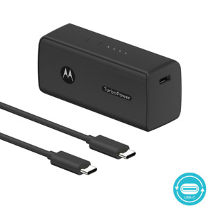 Motorola TurboPower Pack 5000- Ultra Compact, USB-PD and QC3.0 Power Bank for