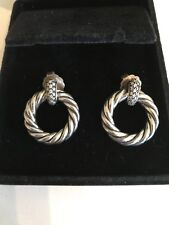 David Yurman Metro Earrings With Diamonds